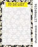 floral to do list with drawn... | Shutterstock .eps vector #1279989256