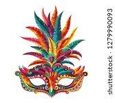 carnival mask. happy carnival...   Shutterstock .eps vector #1279990093