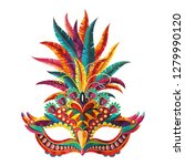 carnival mask. happy carnival... | Shutterstock .eps vector #1279990120