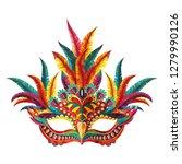 carnival mask. happy carnival...   Shutterstock .eps vector #1279990126