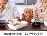 couple enjoy japanese thai meal ... | Shutterstock . vector #1279990669