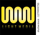 light media logo design vector... | Shutterstock .eps vector #1279999750