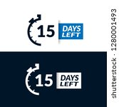15 days left sign   emblem ...