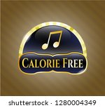 gold emblem with musical note... | Shutterstock .eps vector #1280004349