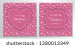 set of valentine's day cards... | Shutterstock .eps vector #1280013349