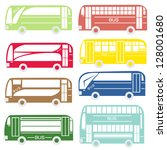 city and tourist buses  vector...