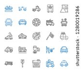 automobile icons set.... | Shutterstock .eps vector #1280019286