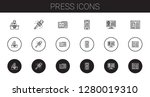 press icons set. collection of... | Shutterstock .eps vector #1280019310