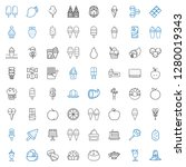 delicious icons set. collection ... | Shutterstock .eps vector #1280019343