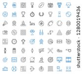 competition icons set.... | Shutterstock .eps vector #1280019436