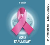 world cancer day is an... | Shutterstock .eps vector #1280020090