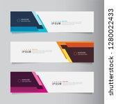 vector abstract banner design... | Shutterstock .eps vector #1280022433