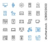 smart icons set. collection of... | Shutterstock .eps vector #1280023033