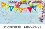 Festive Party Time Banner With...
