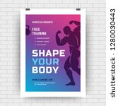 fitness center flyer modern...   Shutterstock .eps vector #1280030443