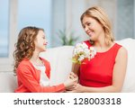 picture of mother and daughter...   Shutterstock . vector #128003318