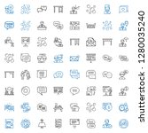 discussion icons set.... | Shutterstock .eps vector #1280035240