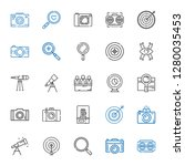 focus icons set. collection of... | Shutterstock .eps vector #1280035453