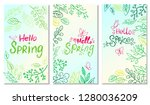 set of hand drawn card hello... | Shutterstock .eps vector #1280036209