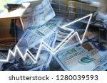 bull market with stocks soaring ... | Shutterstock . vector #1280039593