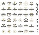 wedding titles and logos vector ... | Shutterstock .eps vector #1280040646