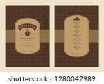 coffee menu design brochure... | Shutterstock .eps vector #1280042989