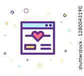 valentine day icon | Shutterstock .eps vector #1280043190