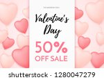 valentines day sale background... | Shutterstock .eps vector #1280047279