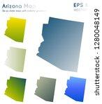 map of arizona with beautiful... | Shutterstock .eps vector #1280048149
