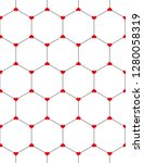 honeycomb graphic with red... | Shutterstock .eps vector #1280058319