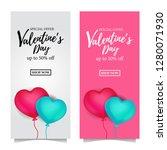 valentine's day sale offer... | Shutterstock .eps vector #1280071930