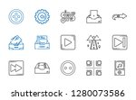 forward icons set. collection... | Shutterstock .eps vector #1280073586