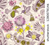 vector decorative seamless... | Shutterstock .eps vector #1280078146