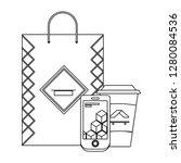 corporate merchandise elements... | Shutterstock .eps vector #1280084536