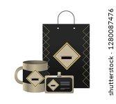 corporate merchandise elements... | Shutterstock .eps vector #1280087476