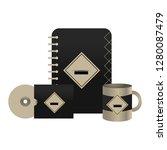 corporate merchandise elements... | Shutterstock .eps vector #1280087479