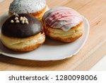 german donuts   three donuts... | Shutterstock . vector #1280098006