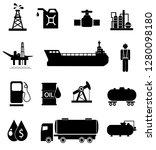oil icon set | Shutterstock . vector #1280098180