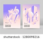 the abstract isometric ... | Shutterstock .eps vector #1280098216