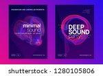 dj flyer. dynamic gradient... | Shutterstock .eps vector #1280105806