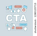 cta word concepts banner. call...