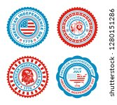 fourth of july independence day ...   Shutterstock . vector #1280151286
