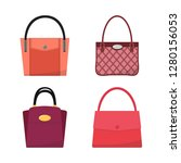 set of women's bags isolated on ... | Shutterstock .eps vector #1280156053
