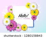 spring background with colorful ... | Shutterstock .eps vector #1280158843
