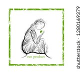 eco product concept  woman like ...   Shutterstock .eps vector #1280169379