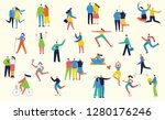 vector illustration in a flat... | Shutterstock .eps vector #1280176246