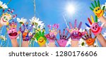 summer holidays  happiness and... | Shutterstock . vector #1280176606