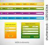 web menu set