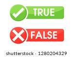 true and false symbols accept... | Shutterstock .eps vector #1280204329