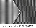 metal perforated 3d texture... | Shutterstock .eps vector #1280216773
